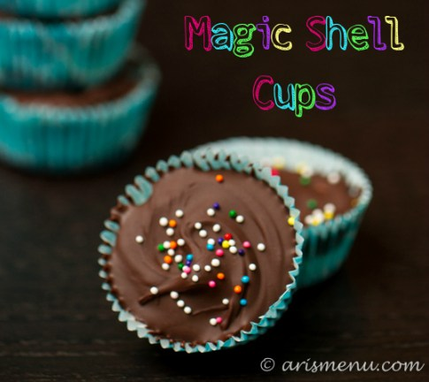 Magic Shell Cups #vegan #glutenfree
