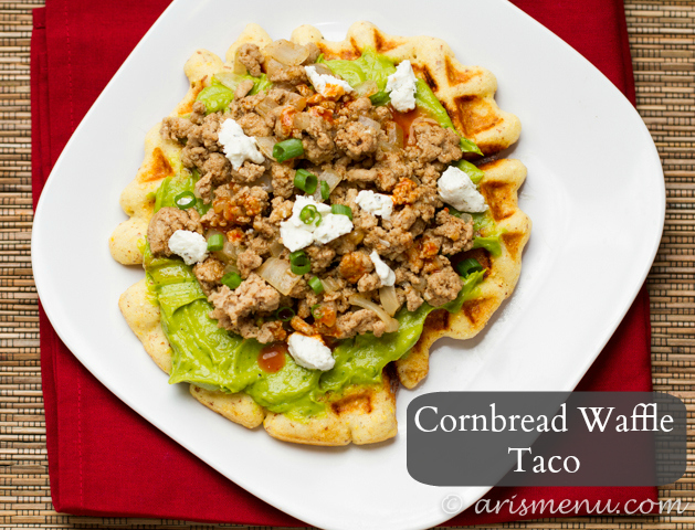 Cornbread Waffle Tacos