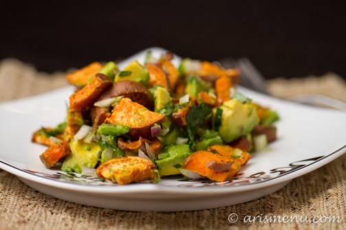 Sweet Potato Avocado Salad #vegan #glutenfree