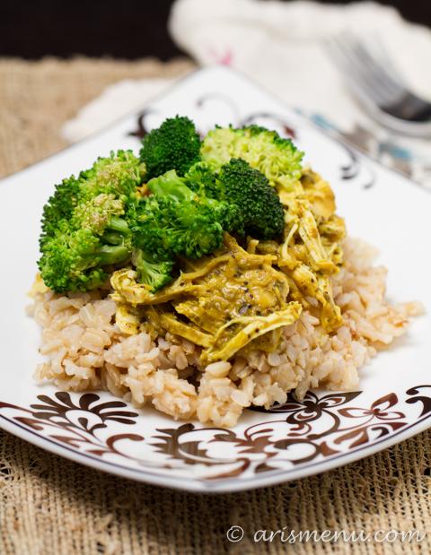 Easy Crockpot Curry Chicken #glutenfree