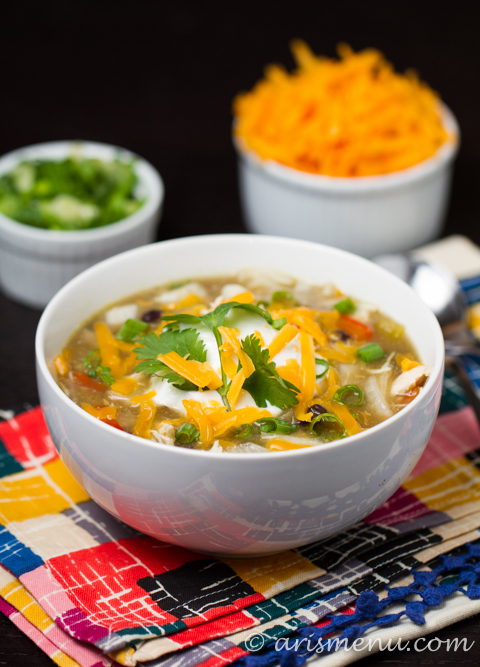 Crockpot Enchilada Soup #glutenfree
