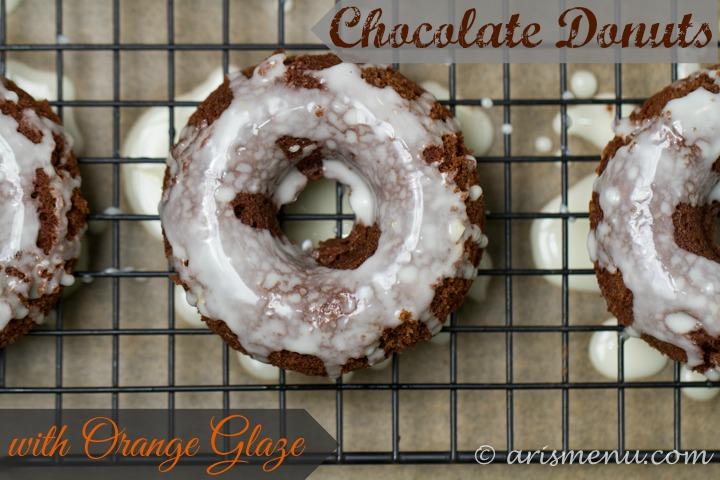 Chocolate Donuts with Orange Glaze