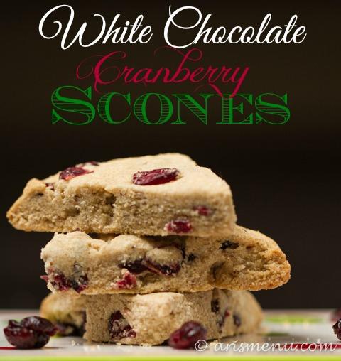 White Chocolate Cranberry Scones {gluten-free}