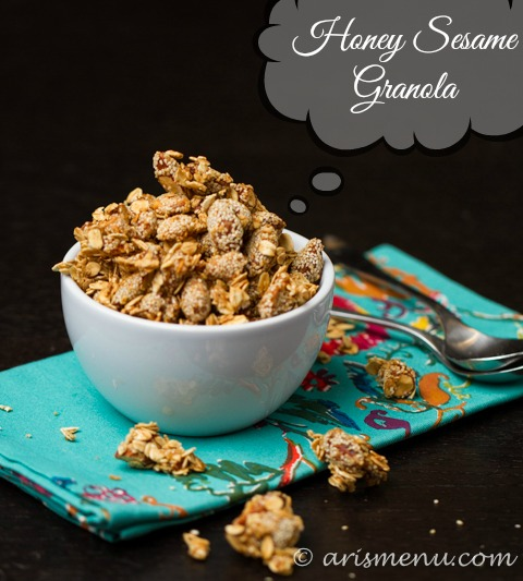 Honey Sesame Granola -- Sweet, crunchy, healthy and wholesome
