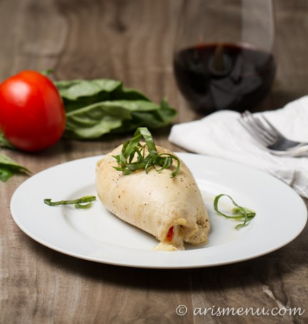 Caprese Stuffed Chicken: Simple, healthy, delicious and elegant with melty mozzarella, roasted tomatoes and a sweet balsamic glaze