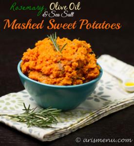 Rosemary, Olive Oil & Sea Salt Mashed Sweet Potatoes