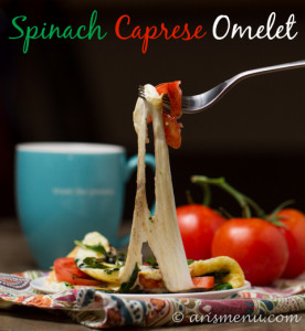 Caprese Spinach Omelet