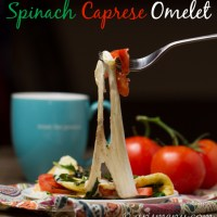 Spinach Caprese Omelet {+ $100 Visa Gift Card Giveaway!}