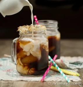 Toasted Coconut Cold-brewed Iced Coffee