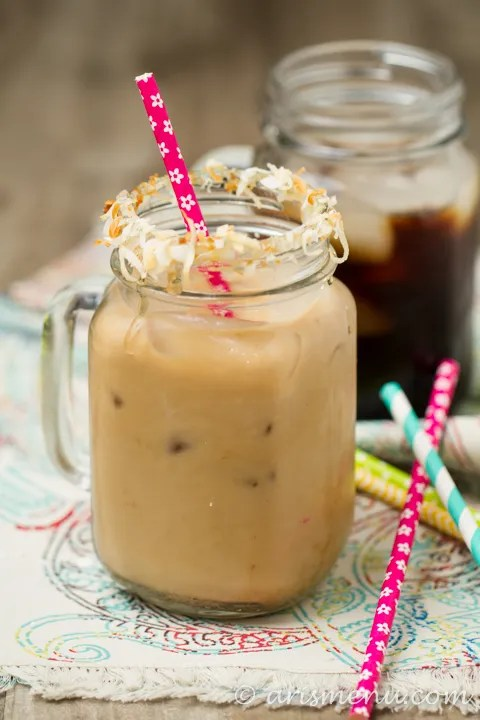 Toasted Coconut Cold-brewed Iced Coffee.: Smooth and nutty without a hint of bitterness