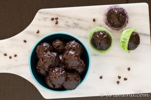 Almond Butter Chocolate Chip Mocha Bites: Healthy paleo, gluten-free & vegan dessert or snack bites