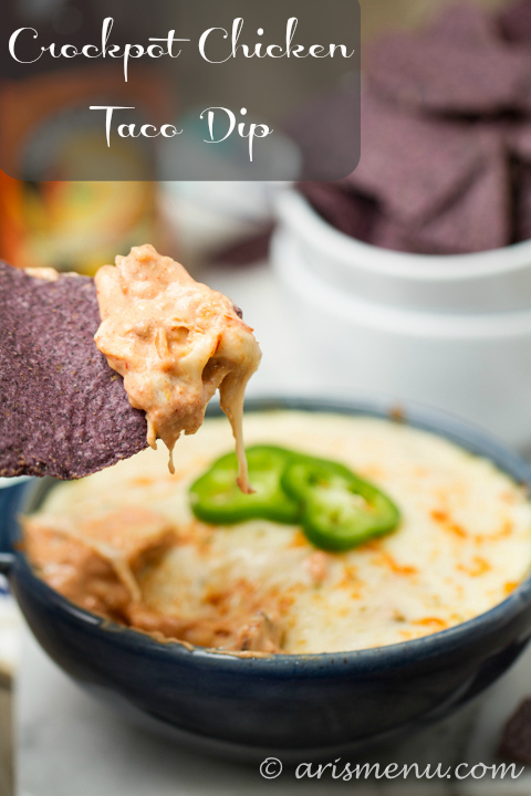 Crockpot Chicken Taco Dip