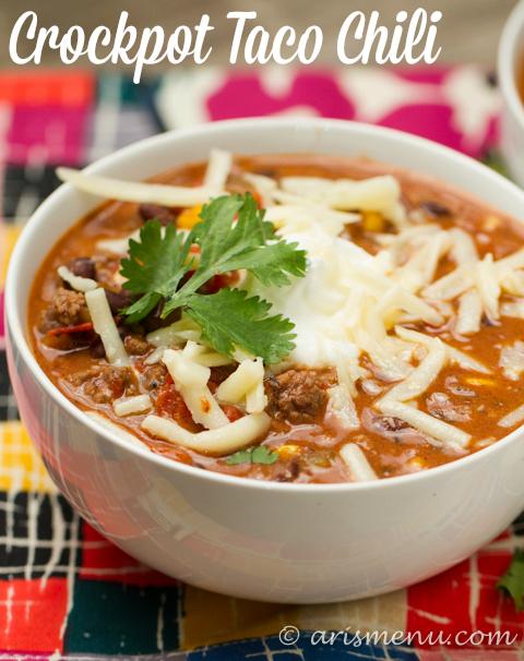Crockpot Taco Chili Healthy, easy and gluten-free