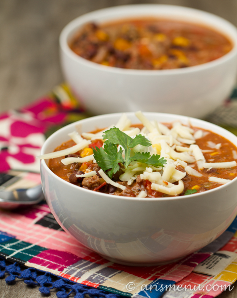 Crockpot Taco Chili Healthy, easy and gluten-free