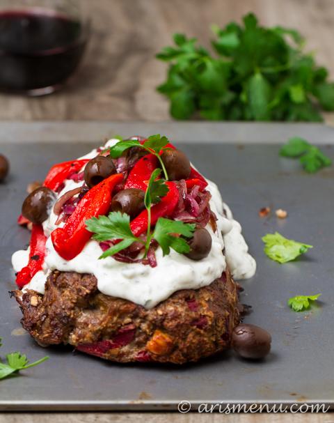 Greek Lamb Meatloaf: Greek gyro meats American meatloaf in this incredible comfort food mash-up! {gf}