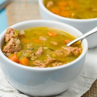 Crockpot Spicy Sausage Split Pea Soup