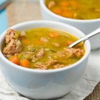 Crockpot Spicy Sausage Split Pea Soup