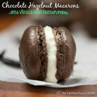 Chocolate Hazelnut Macarons with Vanilla Bean Buttercream