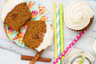 Carrot Cake Cupcakes: Perfectly soft and tender with fluffy cream cheese frosting