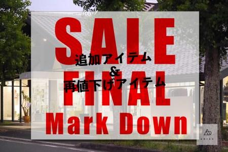 18S/S SALE ☆ FINAL MARK DOWN!! 急げ〜〜!!!!