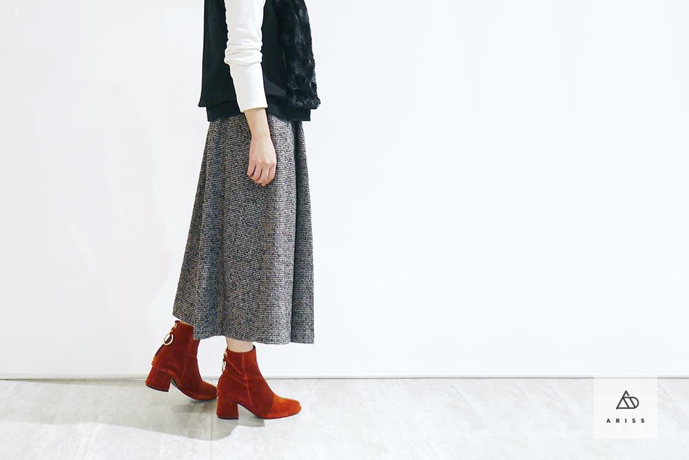 スカートが好調!!こんなスタイルはいかが。クラシカルに、そして大人の余裕を。