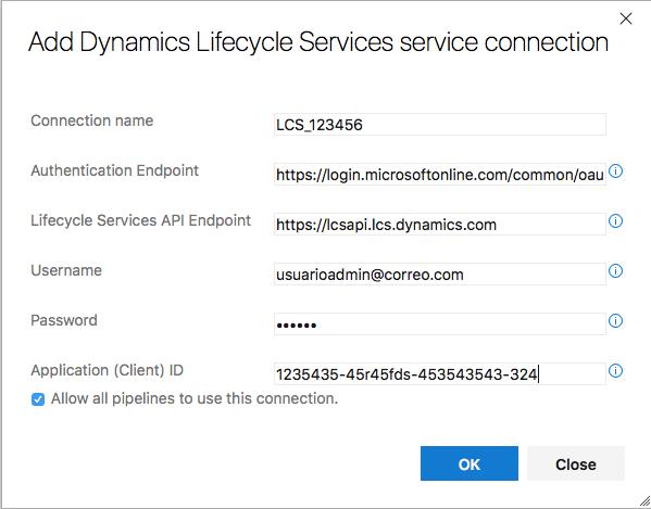 Coenxión LCS Azure DevOps