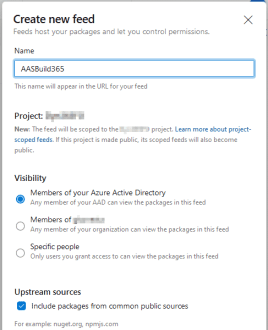 Azure DevOps artifact feed