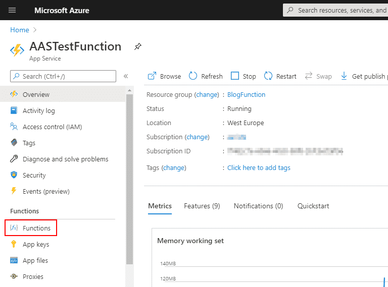 Azure functions & Dynamics 365 Finance and Operations 5