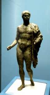 Hellenistic statuette of god or hero.