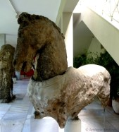 One of the 4 horses the ship carried. The head and body were made of separate blocks, joined at the neck.