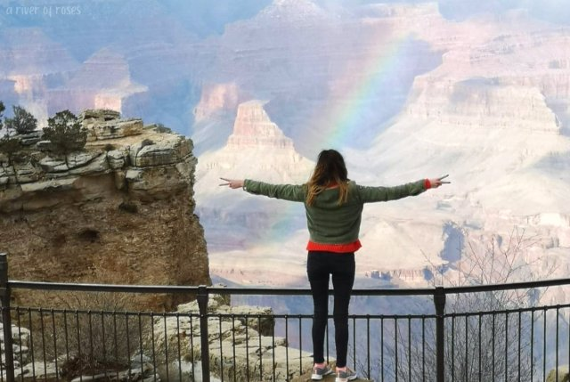 a river of roses ariverofroses rainbow natural beauty grand canyon grandcanyon national park