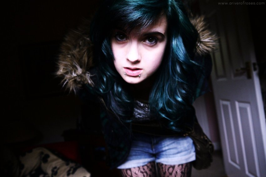 throwback myspace a river of roses ariverofroses green hair