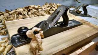 Flatten and thickness with a hand plane.