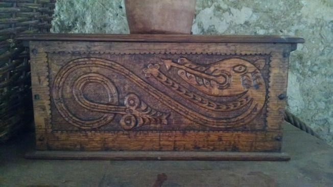 This was my favorite carving: a dragon! It seemed like an unusual departure from most early English work.