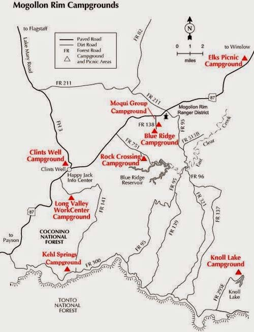 Canyon Lake Az Map : canyon, Knoll, Arizona, Payson
