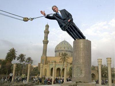 Bush_statue_baghdad