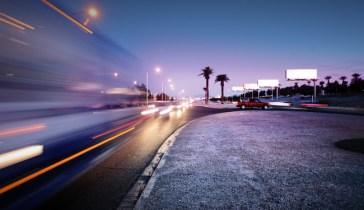Traffic at Las Vegas Blvd., Las Vegas, USA.