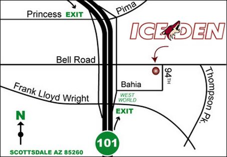 Ice Den Directions