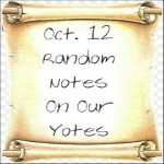 Oct. 12 Random Notes On Our Yotes