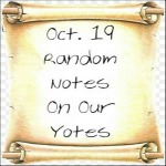 Oct. 19 Random Notes On Our Yotes