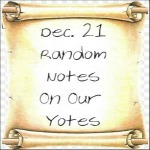 Dec. 21 Random Notes On Our Yotes