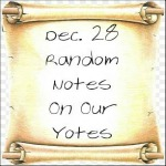 Dec. 28 Random Notes On Our Yotes