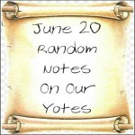 June 20 Random Notes On Our Yotes