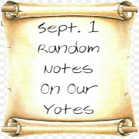 Random Notes On Our Yotes: Sept. 1