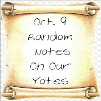 Random Notes On Our Yotes:  Oct. 9