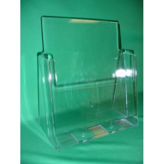 Clear Countertop Brochure Holder for 8.5×11 Literature Set of 6