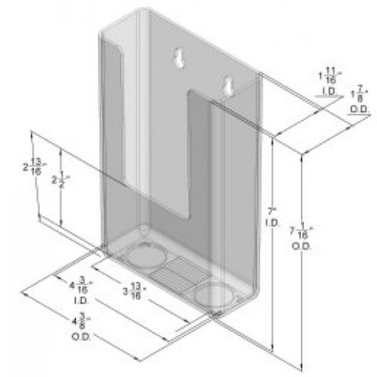 DS-800 CI Wall Mount Brochure Holder for Trifold Literature up to 4″w Pack of 64/$1.50 Each)