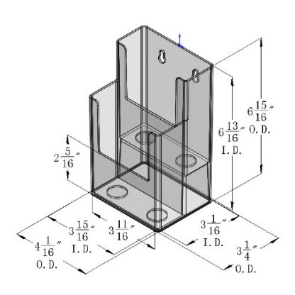 DS 702 CI 2 Tier Wall Mount or Countertop Brochure Holder for Trifold Literature up to 3.75″w(Pack of 42/$2.75 each)