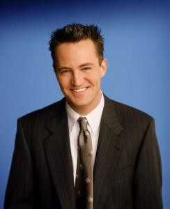 "385848 04: Actor Matthew Perry stars as Chandler Bing in NBC's comedy series ""Friends."" (Photo by Warner Bros. Television)"