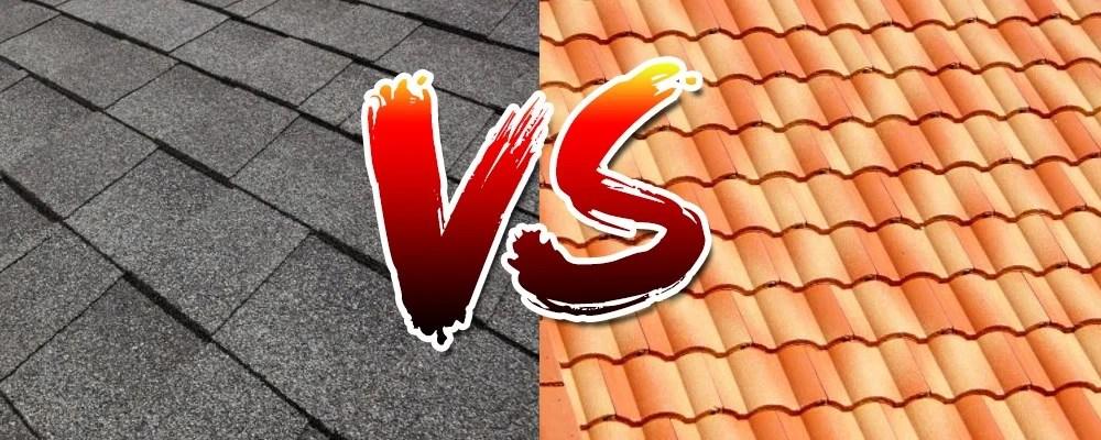 shingle roofing vs tile roofing